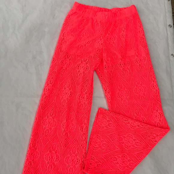 No Boundaries Other - Hot pink pool swim cover pants stretch size small